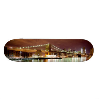 Manhattan & Brooklyn bridge night view. Feel NYC. Skate Decks