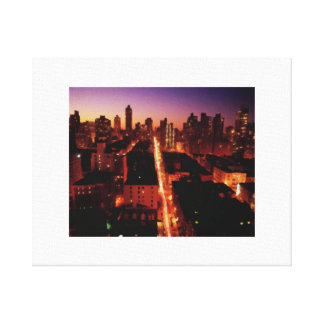 Manhattan by night canvas print