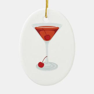 Manhattan Cocktail Ceramic Ornament