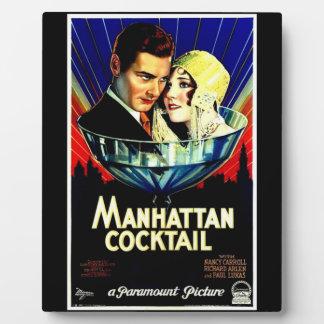 Manhattan Cocktail Custom Tabeltop Plaque