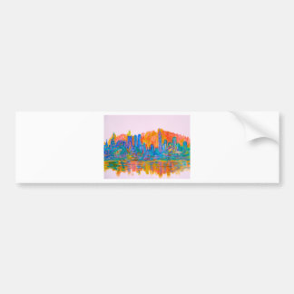 Manhattan Color Wave Bumper Sticker