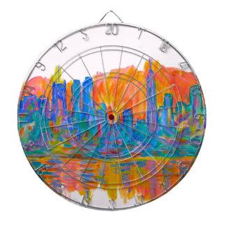 Manhattan Color Wave Dartboard With Darts