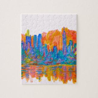 Manhattan Color Wave Jigsaw Puzzle