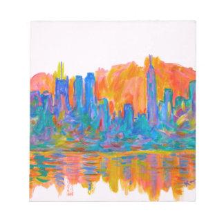 Manhattan Color Wave Notepad