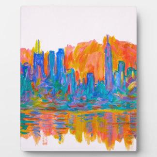 Manhattan Color Wave Plaque