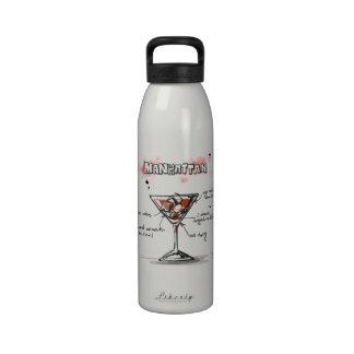 Manhattan Drink Recipe Design Drinking Bottles