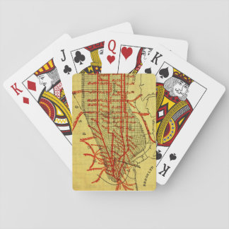 Manhattan Elevated Railway System (1900) Part I Playing Cards