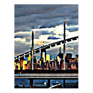 Manhattan from Staten Island  CricketDiane Stuff Postcard