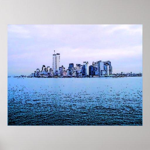 Manhattan Island Print