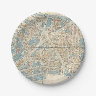 Manhattan Map 7 Inch Paper Plate
