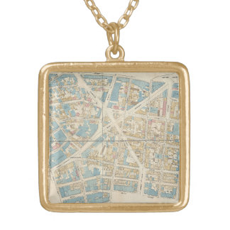 Manhattan Map Gold Plated Necklace