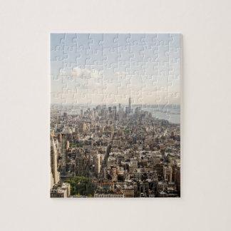 Manhattan New York Aerial View Puzzle