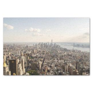 Manhattan New York Aerial View Tissue Paper