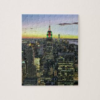 Manhattan New York at night Puzzle