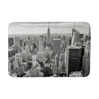 Manhattan, New York (black & white panorama) Bath Mat