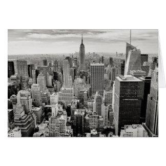 Manhattan, New York (black & white panorama) Card