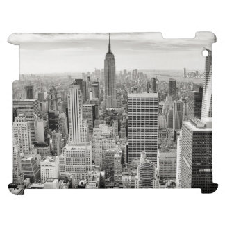 Manhattan, New York (black & white panorama) iPad Case