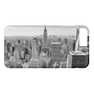 Manhattan, New York (black & white panorama) iPhone 8 Plus/7 Plus Case