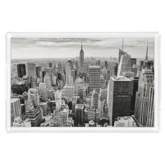 Manhattan, New York (black & white panorama) Perfume Tray