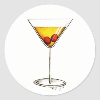 Manhattan New York City NYC Drink Cocktail Sticker