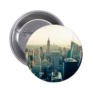 Manhattan, New York city skyline 2 Inch Round Button