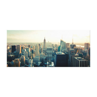 Manhattan, New York city skyline Canvas Print