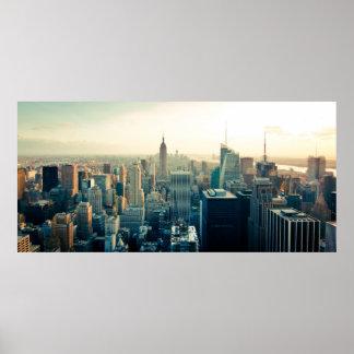 Manhattan, New York city skyline Poster