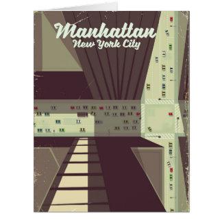 Manhattan New York City Travel poster. Card