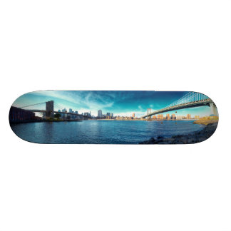 Manhattan New York Skyline from East River Custom Skate Board
