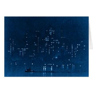Manhattan Night Lights 1921 Card