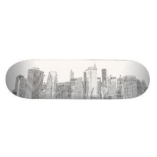 Manhattan Skyline at Night Custom Skate Board