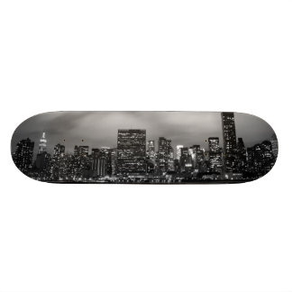 Manhattan Skyline at Night Custom Skateboard