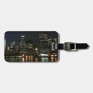 Manhattan Skyline Luggage Tag