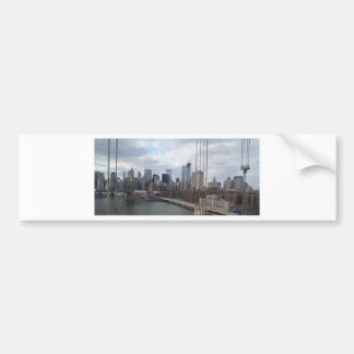 Manhattan skyline New York Bumper Sticker