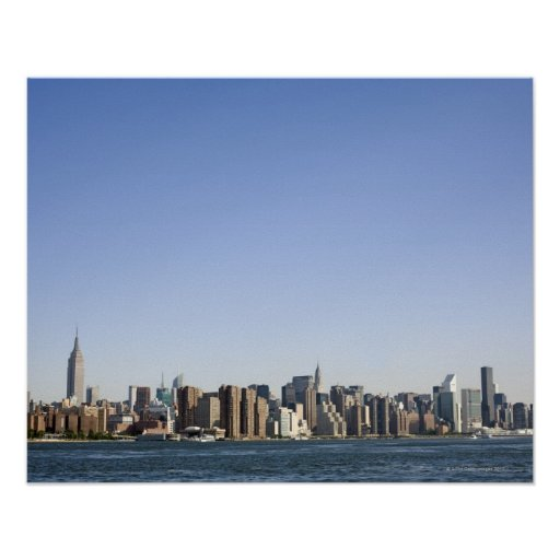Manhattan Skyline, New York City, NY, USA Print