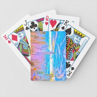 Manhattan Skyline Pop Art Bicycle Playing Cards