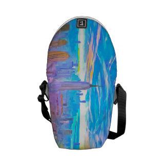 Manhattan Skyline Pop Art Commuter Bag