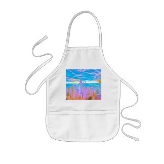 Manhattan Skyline Pop Art Kids Apron