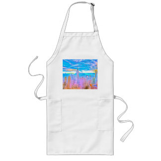 Manhattan Skyline Pop Art Long Apron