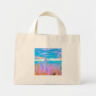 Manhattan Skyline Pop Art Mini Tote Bag