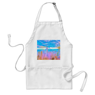 Manhattan Skyline Pop Art Standard Apron