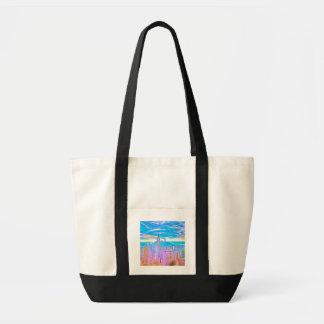 Manhattan Skyline Pop Art Tote Bag