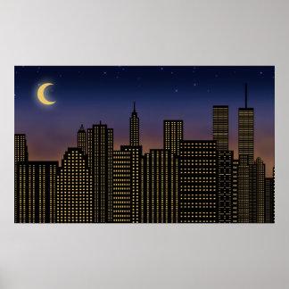 Manhattan Skyline Poster
