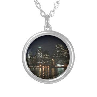 Manhattan Skyline Silver Plated Necklace