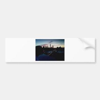 Manhattan Sunset Bumper Sticker