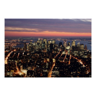 Manhattan Sunset Special 23x34 Poster - Customized