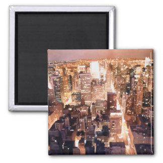 """""""Manhattan Tapestry"""" New York Art Square Magnet"""