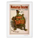 Manhattan Theatre New York Broadway The Turtle Greeting Card