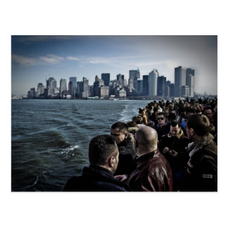 Manhattan Tourists Postcard