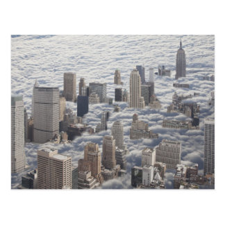 Manhattan Under Cloudy Sky Postcard